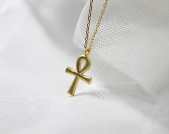Ankh Cross Key Necklace- S2279-2