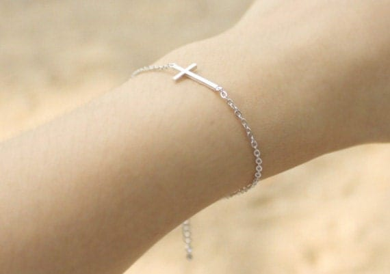 Sideways Cross Bracelet - S3278-2