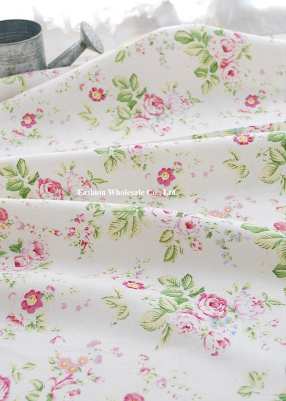 Half Yard - Japanese Linen Cotton Blended Fabric - Rose, A