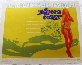Vintage Movie Poster, Kona Coast Movie Poster, Kona Coast, Movie Poster, Retro, Movie, Poster