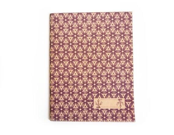 Triangle Notebook, Vintage Lebanese School Notebook