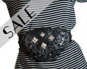 leather wide belt black summer accessories s m l xl  50% SALE