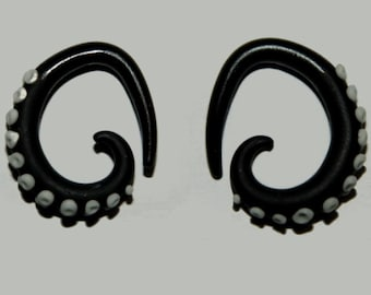 Black Glowing Tentacle Gauges 8g-00g