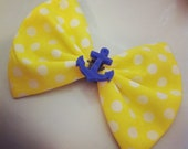 Yellow Dot Anchor Bow