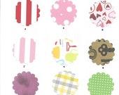 CUSTOM bird Mini Bird Cards, 12 card set, 3x3, Choose Your Colors