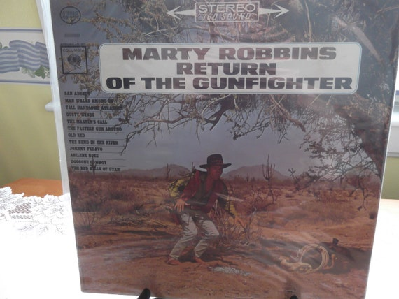 Album titled Return Of The Gunfighter by Marty Robbins (1963)
