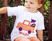 Custom Boys Football Truck Shirt