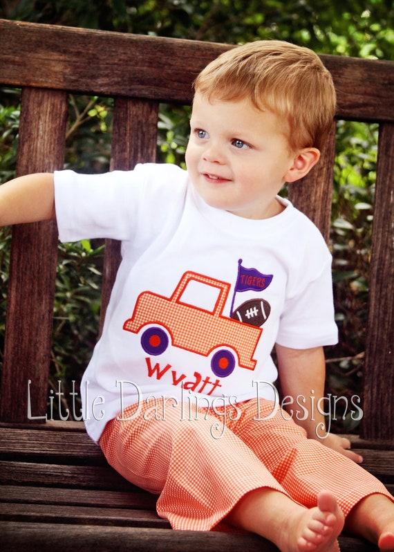 Custom Boys Football Truck Shirt