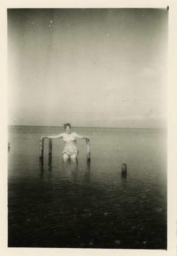 "Vintage Photo ""Dark Waters"", Photography, Paper Ephemera, Snapshot, Old Photo, Collectibles - LBS007"