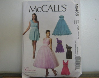 Party or Bridesmaid's Dress Pattern, Create It Mix and Match Pattern Pieces, Mc Call's 6466, SZ 4 through 10