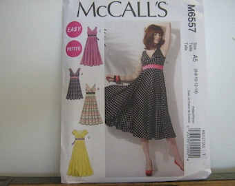 Summer Party or Bridesmaid's Dress Pattern, Mc Call's 6557, SZ 6 through 14