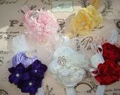 Baby Flower Headband, Newborn Headband, Infant Headand, Photo Prop / Receive 5 Beautiful Baby Headbands