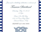 Nautical, Ocean Adult Birthday Invitation, 20