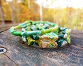 Shades of Green Friendship Bracelet Set