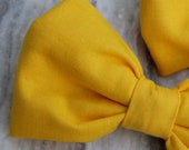 Bow Tie for Men in solid bright yellow - clip on,