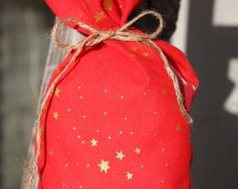 Fabric Christmas Gift Bag - Medium Size