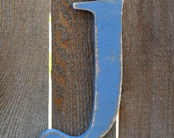 Wood Letter j - in stock