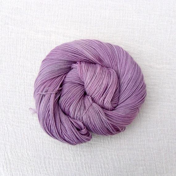 Sock Yarn Merino Cashmere Nylon 100g Pink - Hand Dyed High Twist - Damasque 1