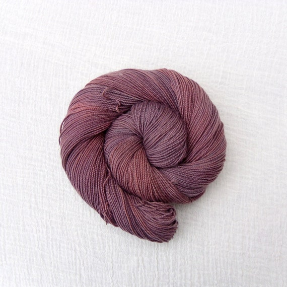 Hand Dyed Sock Yarn 100g - MCN High Twist - Chocolat 1