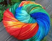 "Hand-dyed ""Macaw"" MCN (merino/cashmere/nylon) - 383 Yards"