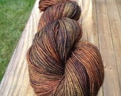 "Hand-dyed ""Rust Dragon"" merino/nylon/sparkle - 438 Yards"