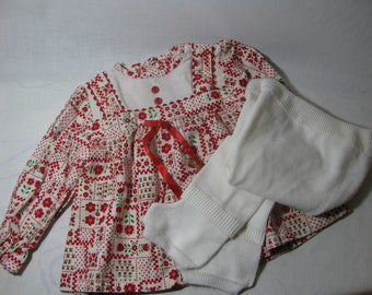 vintage holiday girls outfit