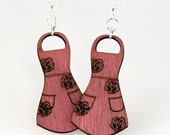 Apron Earrings - Love cooking - Made in USA