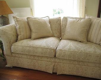Ecru Elegant Decorative Throw Pillow Cover Accent Cushion