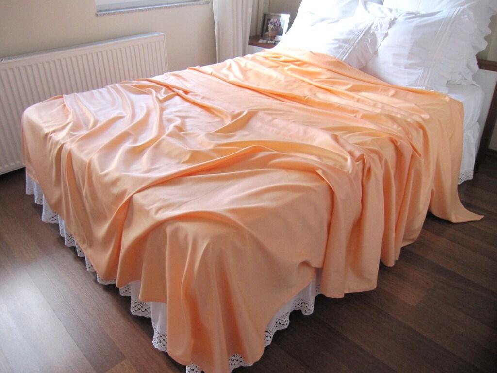 somon salmon queen size bed sheet flat sheet top by nurdanceyiz. Black Bedroom Furniture Sets. Home Design Ideas