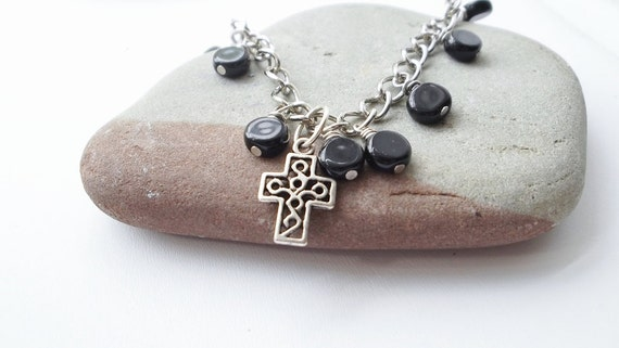 SOA Fierce Mother Chain Cross Charm Turquoise Bracelet, Free Shipping, LymeAid for Melissa