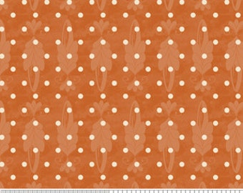 "SALE End of Bolt 18"" Country Harvest Orange Dots by Dowdle Folk Art for Riley Blake"