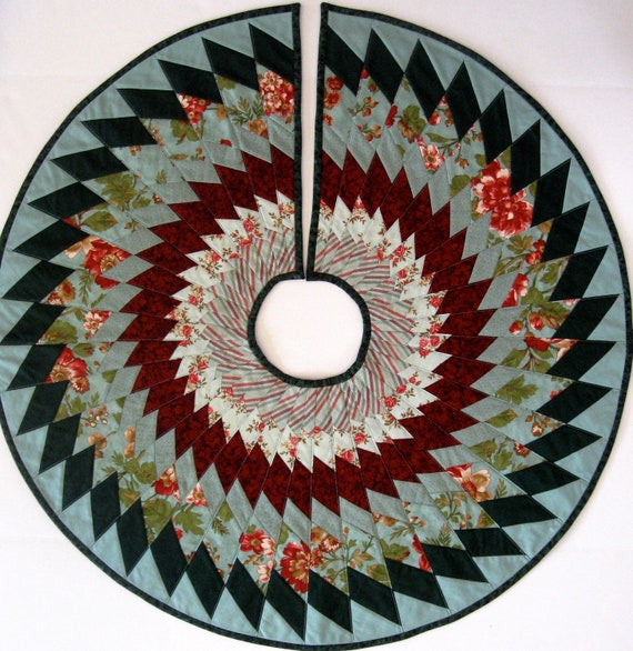 Etsy Christmas Tree Skirt: Christmas Tree Skirt Modern Quilt By SallyManke On Etsy