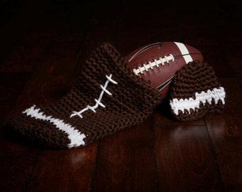 Crochet Newborn Football Cocoon Photo Prop, newborn prop, baby prop