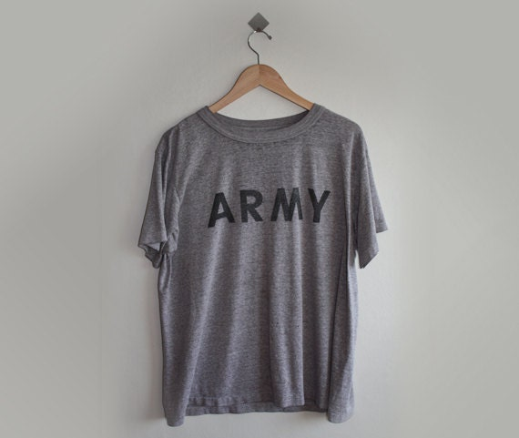 Heather Grey T-shirt with Army
