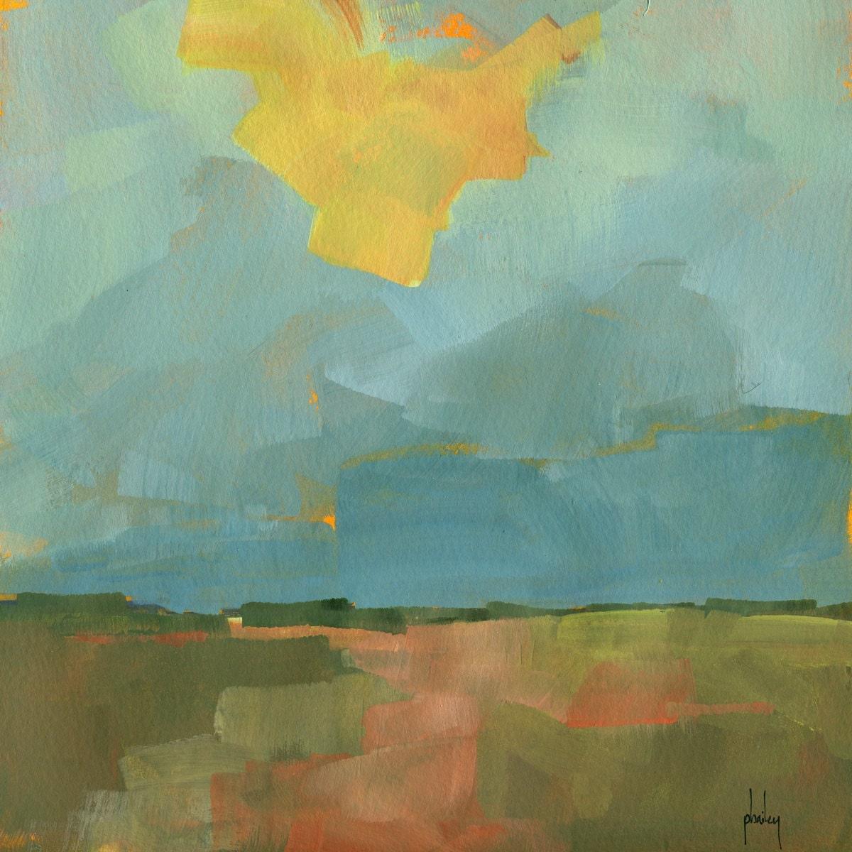 Original acrylic semi abstract landscape painting breaking for Abstract painting in acrylic