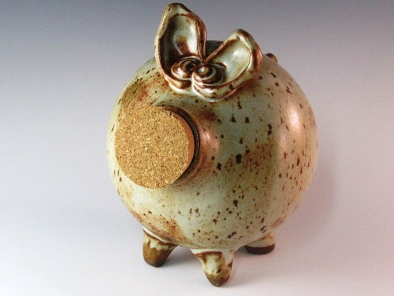 Piggy Bank With Multiple Glazes