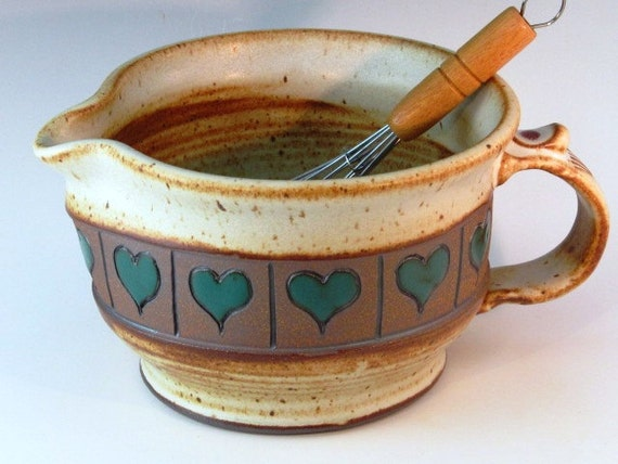 Batter Bowl  With Free Wisk And Green Hearts