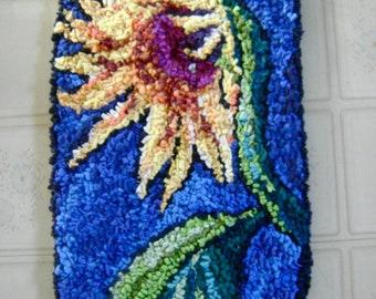 hooked rug - Sunflower