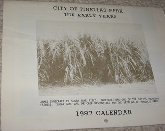 City of Pinellas Park, The Early Years, 1987 Calendar