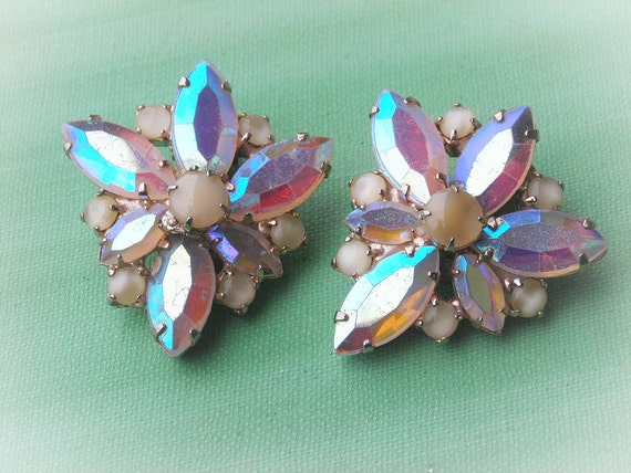 Vintage Rhinestone Earrings- REDUCED