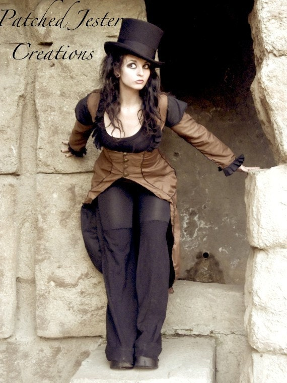 Steampunk Coat - Steampunk Corset Coat - Made to Order