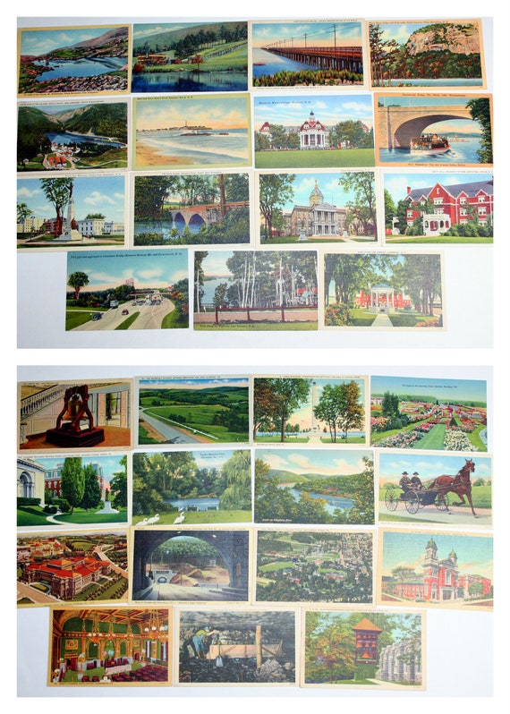 RESERVED for Tricia - 150 Vintage California Postcards