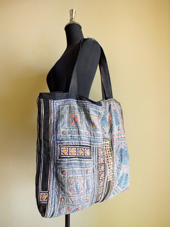 Hmong Ethnic handmade bag vintage fabric handbags and purses-from thailand
