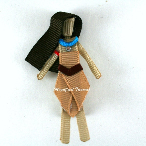 Pocahontas Inspired Ribbon Sculpture Hair Clip