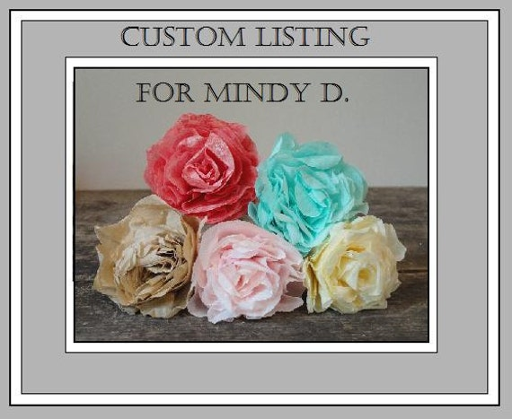 RESERVED- Custom listing for Mindy D.