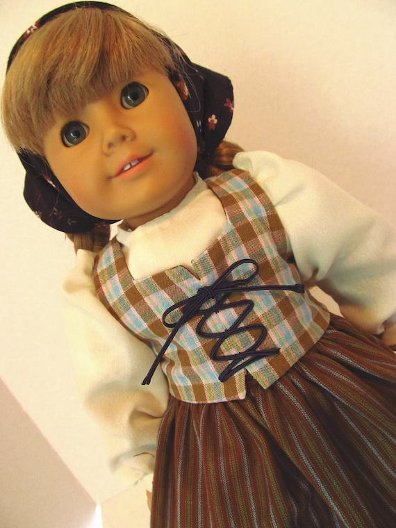 Historical Dirndl Outfit, American Girl Doll Clothes