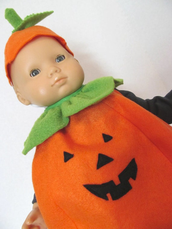 Bitty Baby  Doll Clothes, Pumpkin Costume, Halloween Costume