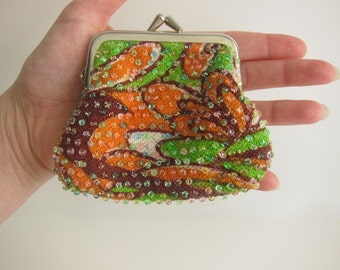 Bright Psychedelic Kisslock Coin Purse