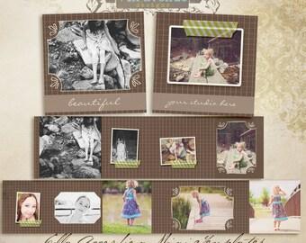 Ella 3x3 Accordion book templates for photographers