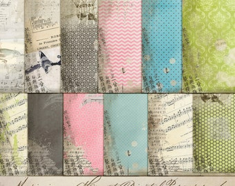 Digital Papers - Music In My Heart. Perfect for blog background, art journal, mixed media, card making and much more.